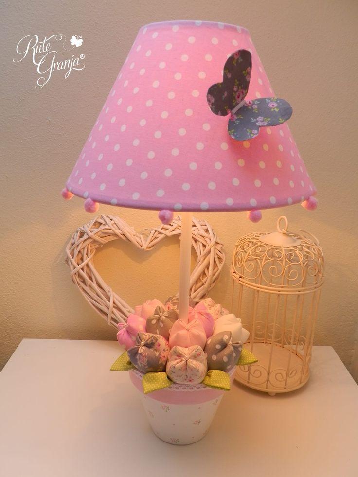 Abajur feminino para quarto infantil cor de rosa