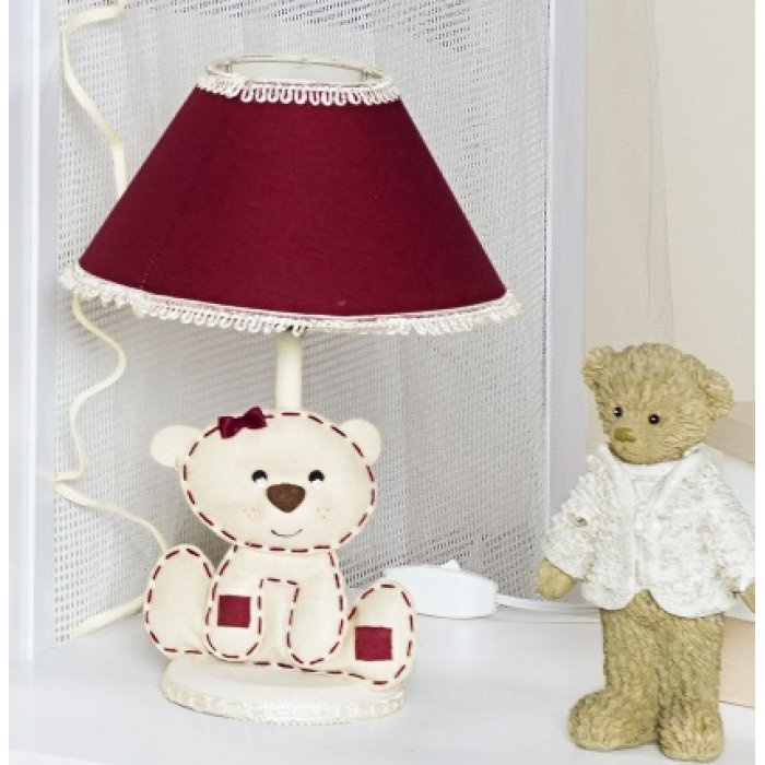 Abajur de ursinho delicado para o quarto infantil