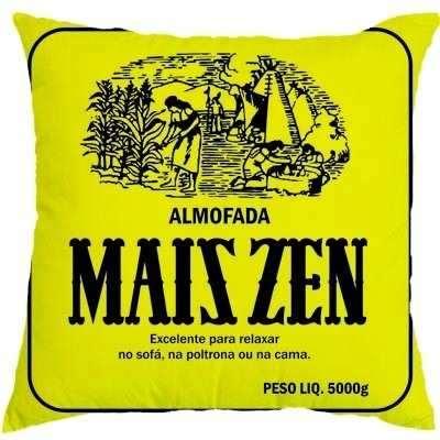 Almofada personalizada amarela maizena