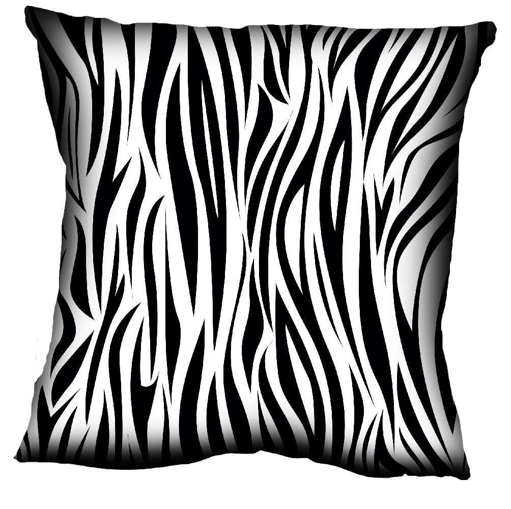 Almofada com estampa de zebra