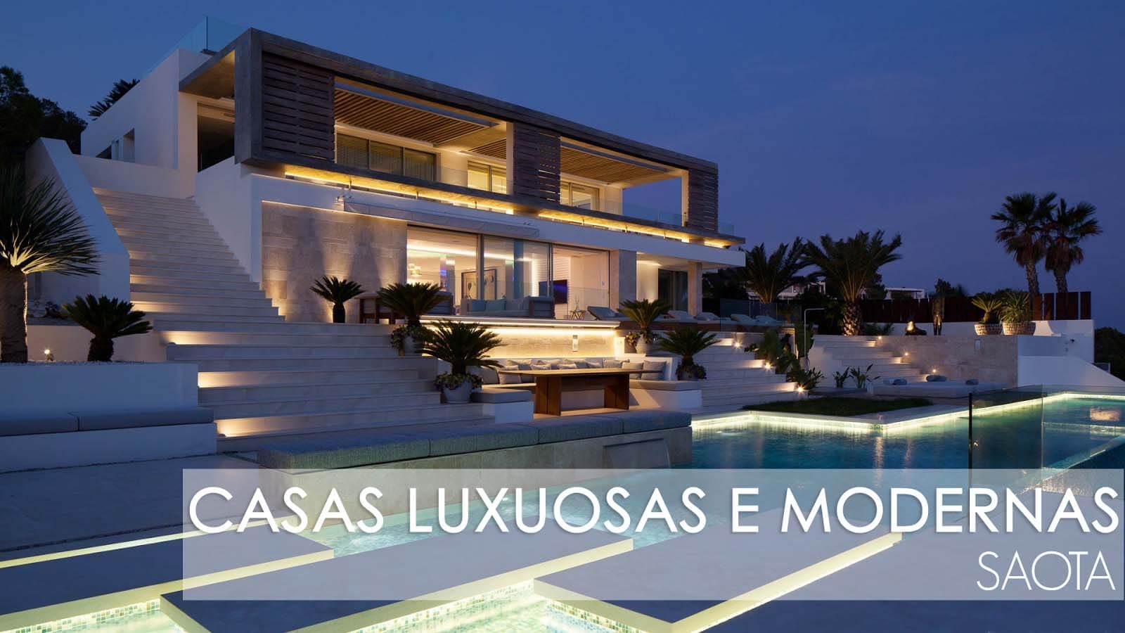 Casa luxuosas - fachadas e projetos