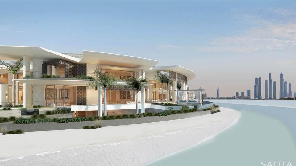 Fachada de casa de luxo na praia - casas no litoral