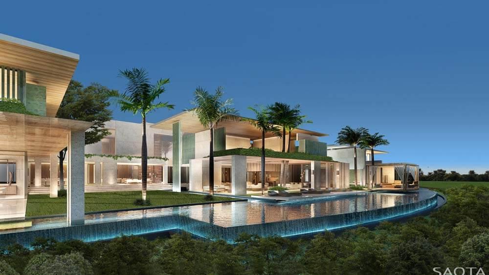 Grande mansão de luxo