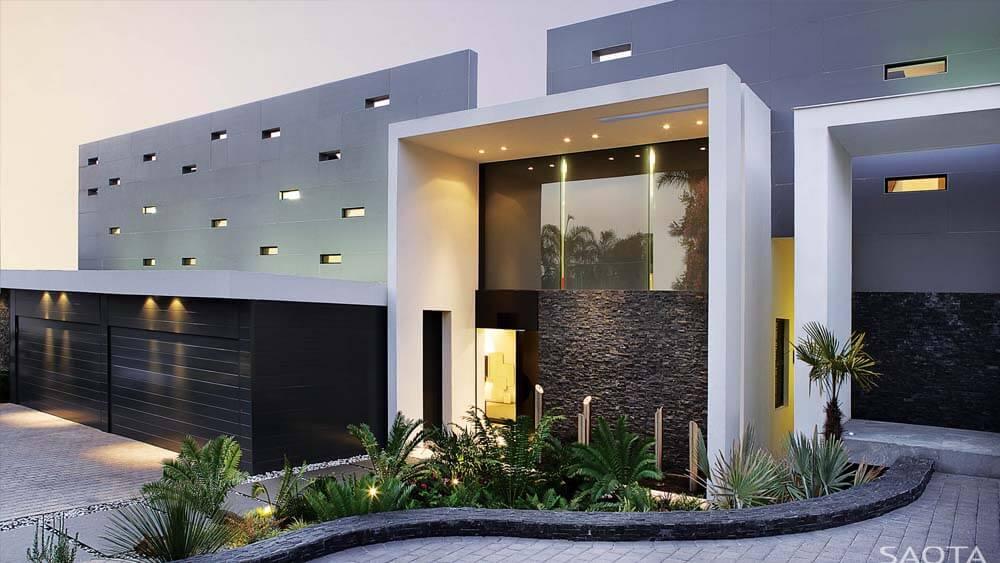 Casa moderna de Luxo - Fachada de Mansão