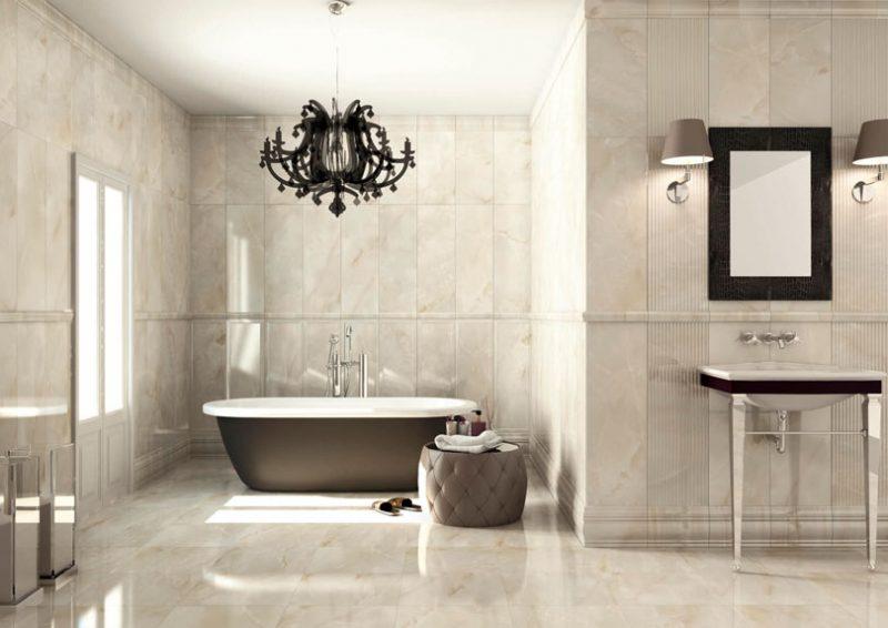 banheiro decorado com cerâmica