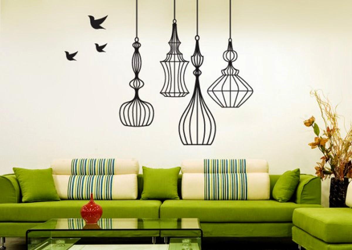 decoração de parede de sala de estar com adesivos de pássarosdecoração de parede de sala de estar com adesivos de pássaros
