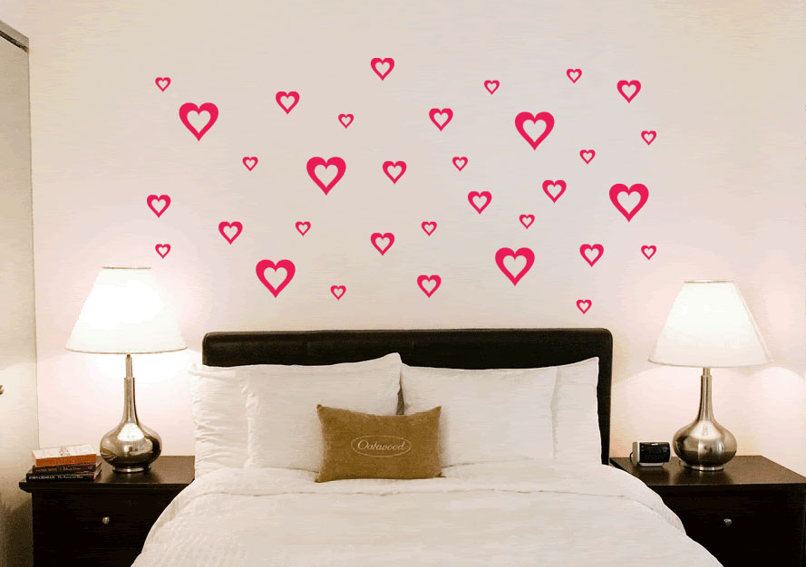 Adesivos decorativos para parede de quarto de casal