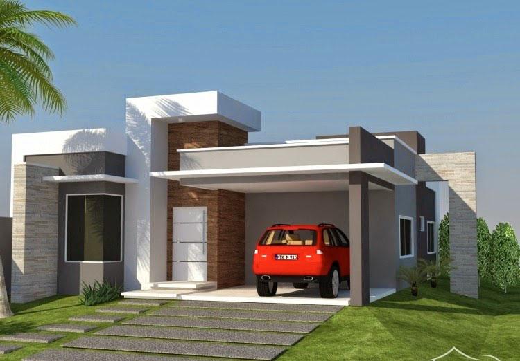 Fachadas de casas pequenas e simples 95 ideias e modelos for Fachada de casas modernas
