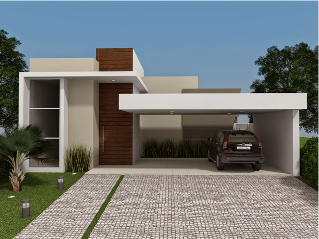 Fachadas de casas pequenas e simples 95 ideias e modelos for Pisos elegantes para casas