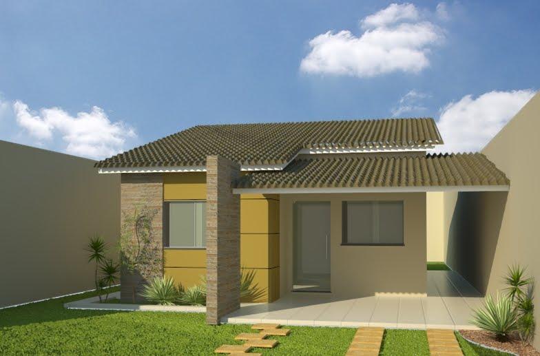 Fachadas de casas pequenas e simples 95 ideias e modelos - Casas pequenas bonitas y modernas ...