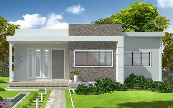 Fachadas de casas pequenas e simples 95 ideias e modelos for Ver fachadas de casas