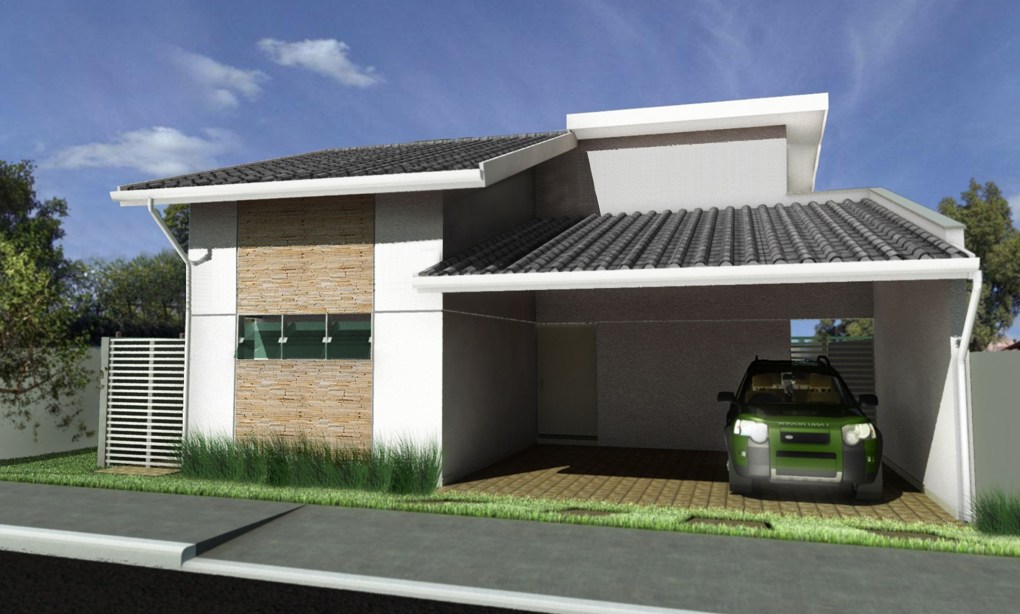 Fachadas de casas pequenas e simples 95 ideias e modelos for Fachada de casas modernas estilo oriental