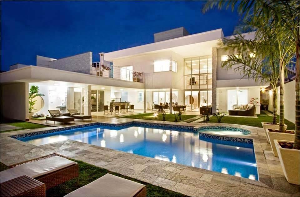 35 modelos de casas de luxo fotos de casas e mans es aqui for Ver piscinas grandes