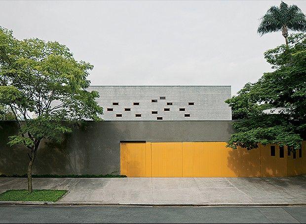 Tipo de muro residencial simples em concreto