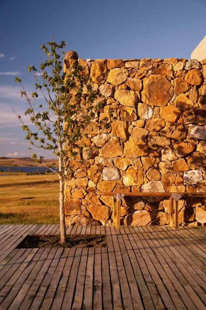 Modelo de muro de pedra ferro