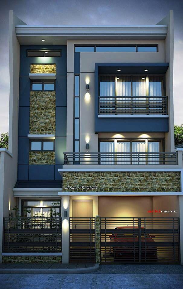 sobrado 4 pavimentos moderno fachada