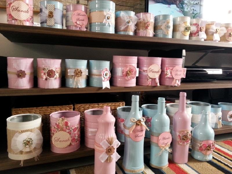 latas decoradas delicadas