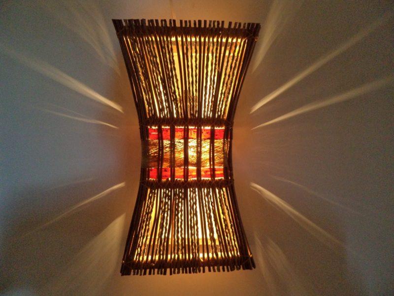 Luminária de Parede com Cipó