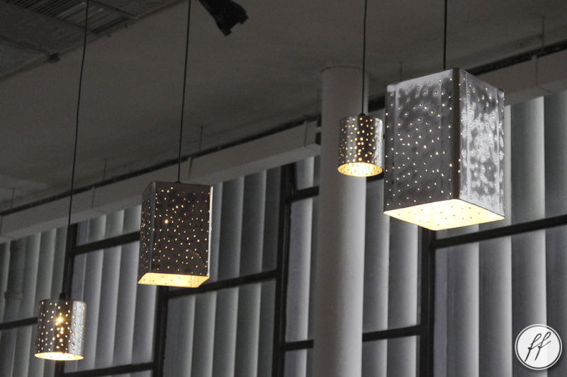 luminária de lata decorada
