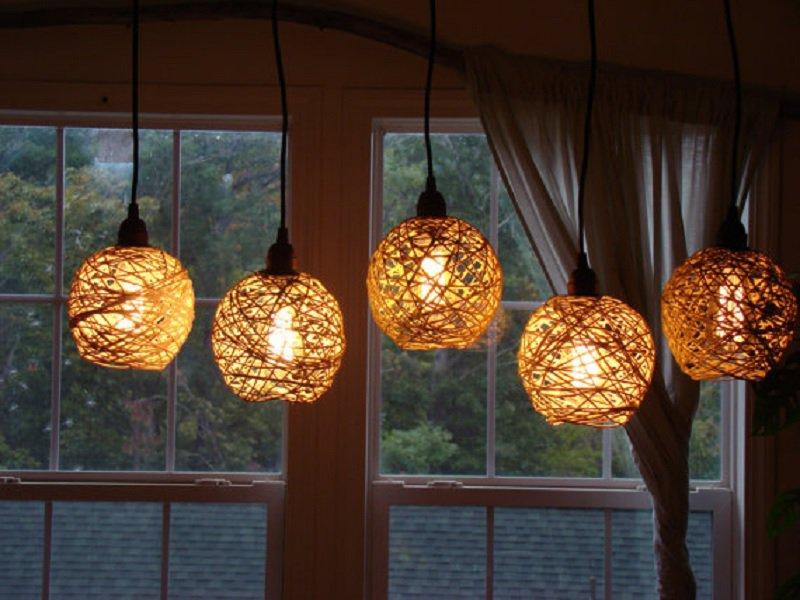 luminárias rústicas