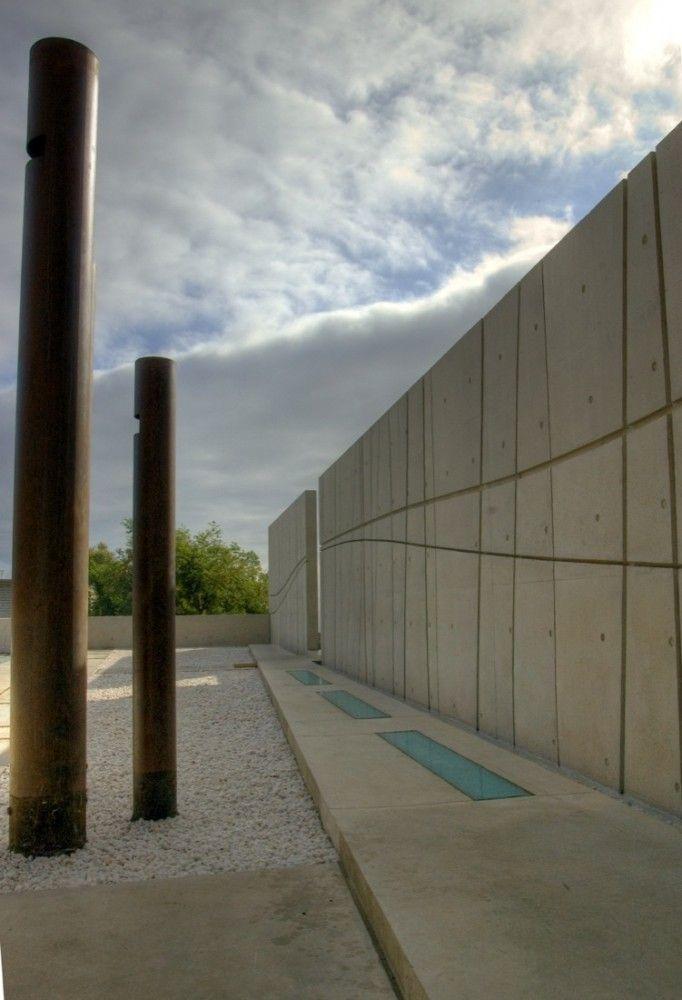 Projeto do muro para pátio de concreto