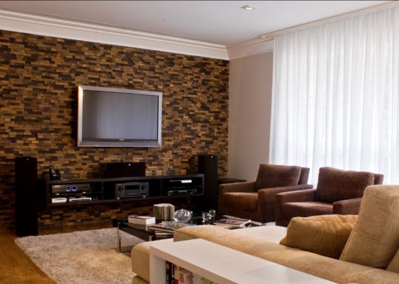Pedras Brasileiras - Revestimento de ferro na sala de estar