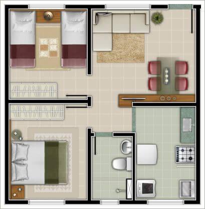Projeto simples de casa pequenas