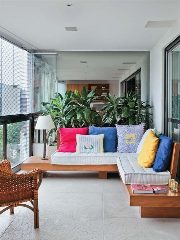 Folhagens para jardim em varanda residencial