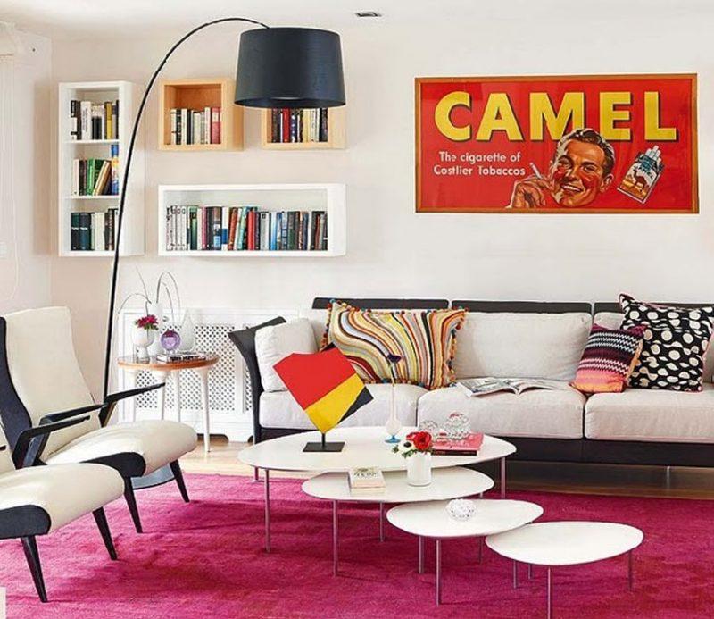 Sala decorada estilo anos 50