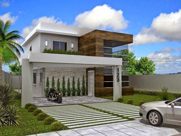 10 modelos de fachadas de sobrados modernos for Modelos de casas fachadas fotos