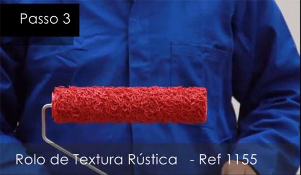 Rolo de textura passo a passo