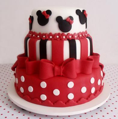 Bolo de aniversário da Minnie Mouse
