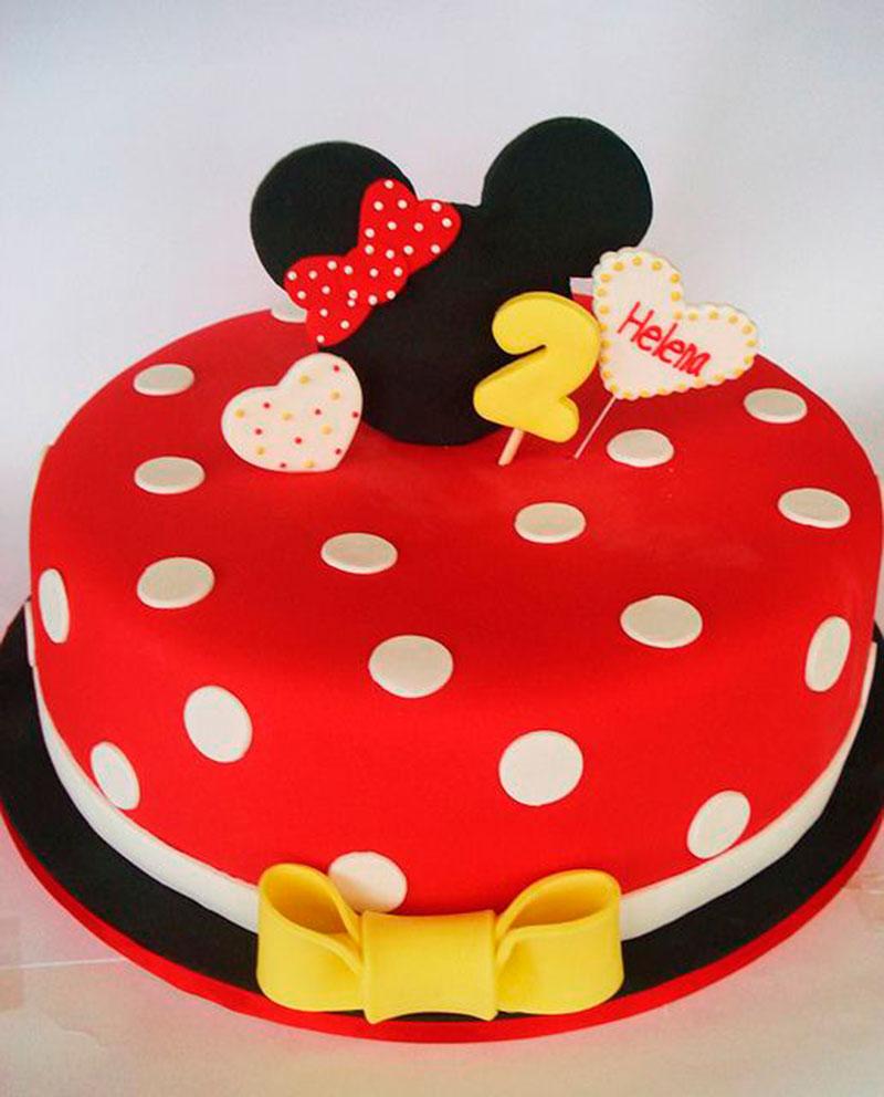 Pequeno bolo de aniversário da Minnie