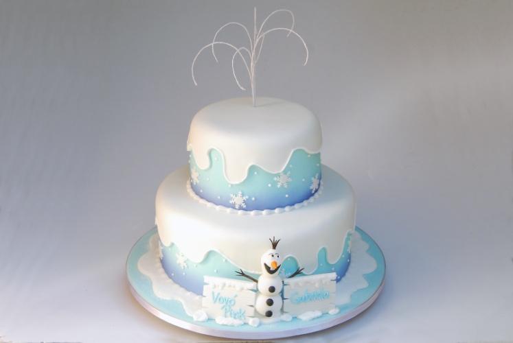 bolo temático para festinha frozen