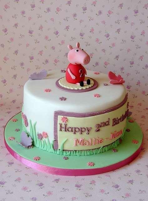 Singelo bolo de aniversário da Peppa PIg