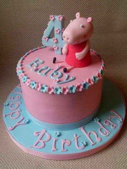 Bolo de aniversário cor de rosa