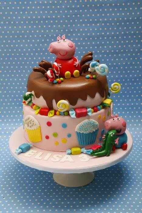 bolo de chocolate da Peppa de chocolate