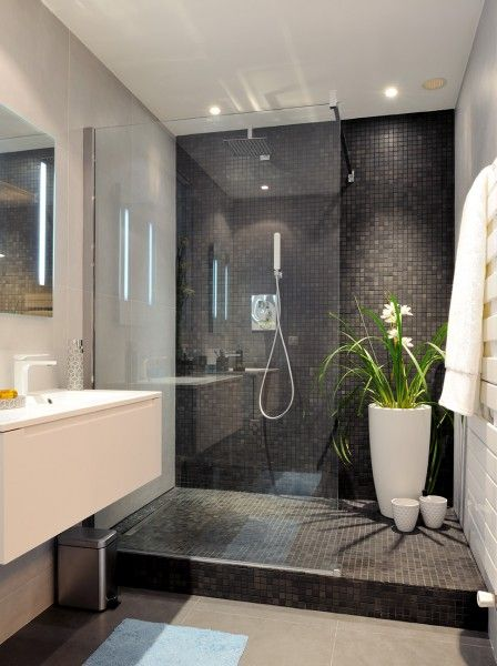 Banheiro planejado com pastilhas de cerâmica