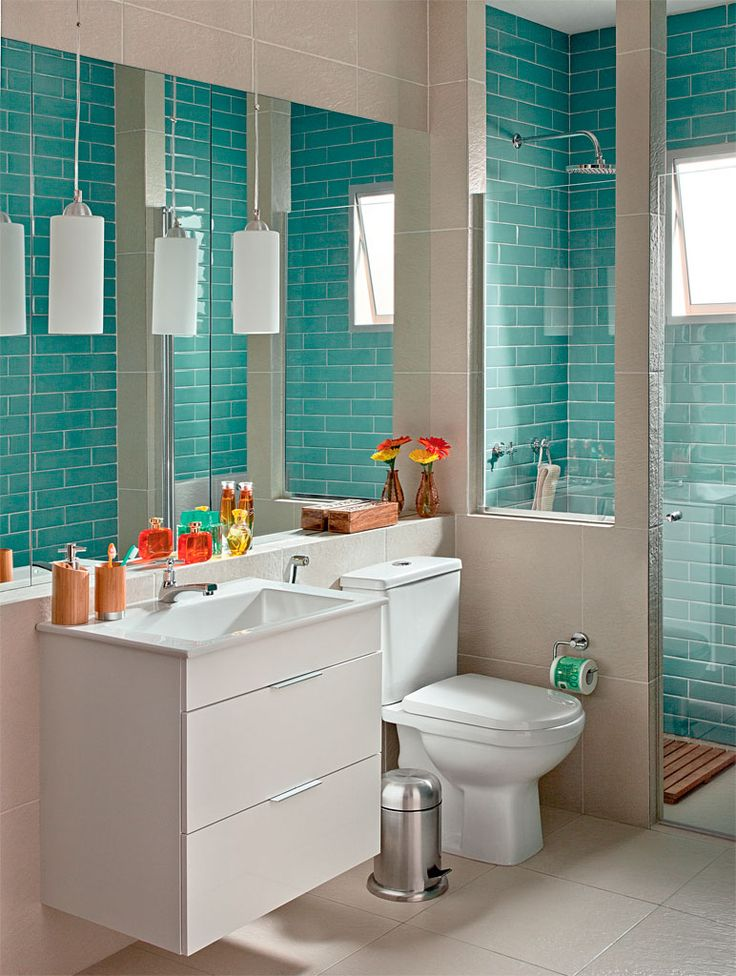 banheiro simples verde