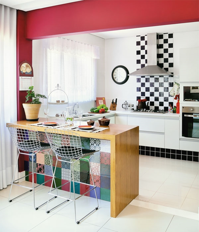 Cozinha decorada super colorida