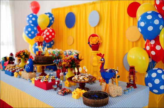 decoração de festa da galinha pintadinha