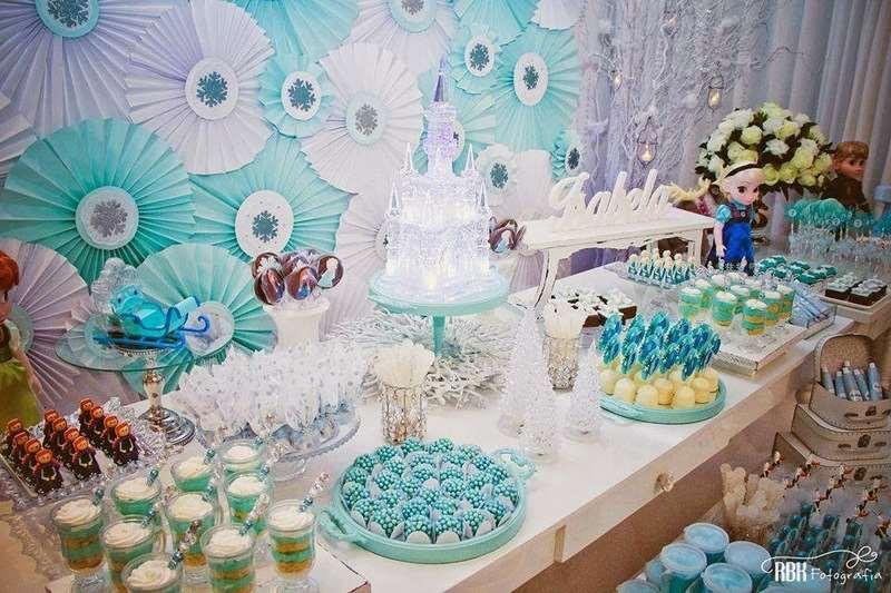 Decoração animada para aniversário temático Frozen