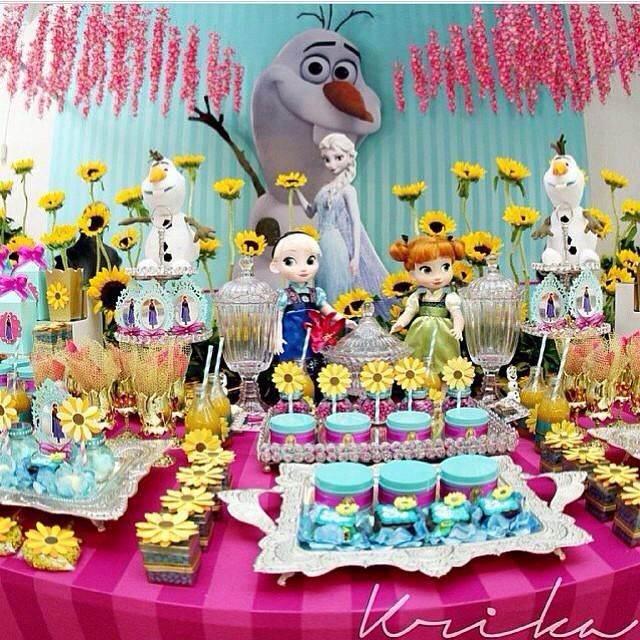 Frozen Fever decoração de festa de aniversário