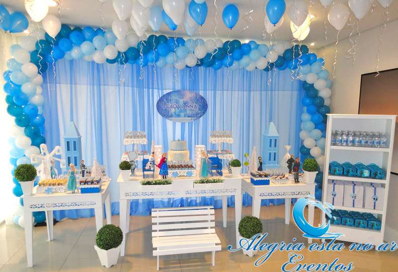 destinha decorada frozen