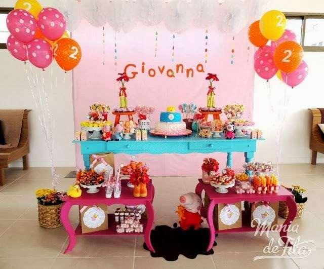 decoração de festa de aniversário infantil da Peppa Pig