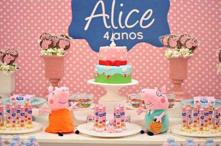 decoração de anversário da Peppa Pig