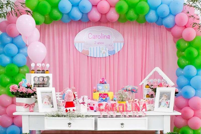 Aniversário infantil feminino decorado da Peppa Pig