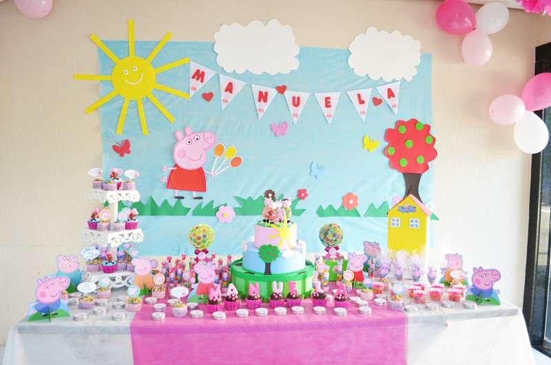 Decoração de festa de menina da Peppa Pig