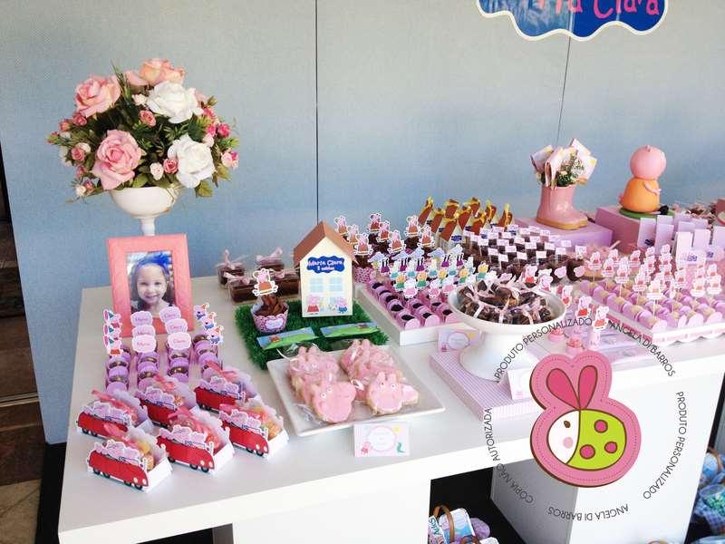 Docinhos decorativos de festa de aniversário da Peppa Pig