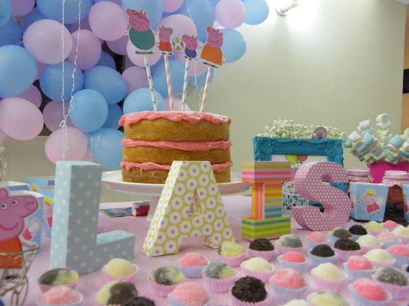 aniversário de menina decorado de Pippa Pig